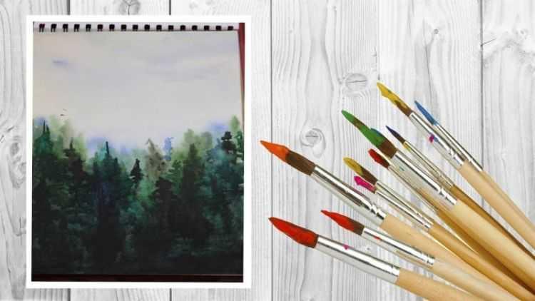 Как нарисовать лес ребенку 3 года